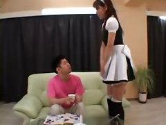 Asian Maid Rika Tachibanas Solo Orgasm