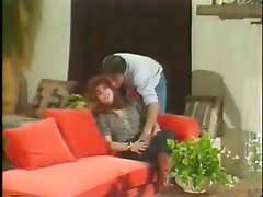 Retro 70\s Scene On The Couch