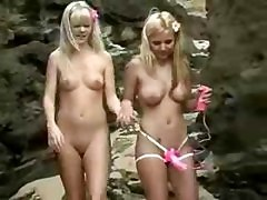 2 Young Blonde Hotties At The Beach