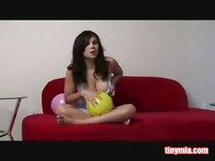 Mia Teasing With Balloons
