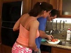 Head Cook In Action With A Horny Housewife