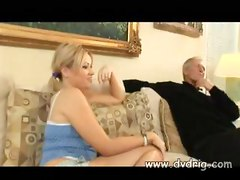 Old Dad Gives His Lovely College Girl Babysitter Zoe A Nice Bonus When He Pulls Out His Cock And Fucks Her On The Couch