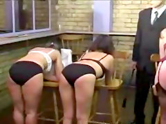 Three Girls Are Punished And Caned