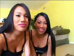 Nyla Thai & Lucy Thai Share One Cock