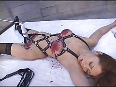 Japanese- Tied Up -wax Play-dildo-nose Clip-clothes Pegs- Tied Upside Down