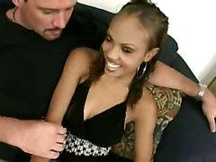 Ebony Girl Gets An Creampie!