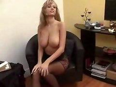 Busty Solo Girl In Office