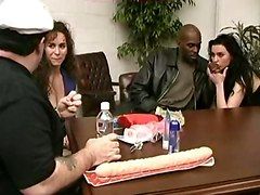 Interracial Orgy With Milfs
