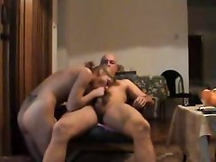 Jennifer Swallows Old Guys Sperm