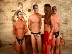 Three Men Pleasure Their Dominatrix